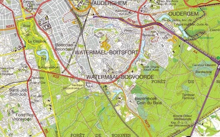 watermael boitsfort-map